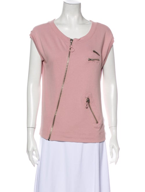 Marc Jacobs Scoop Neck Short Sleeve T-Shirt Pink