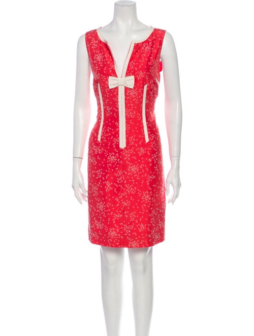 Marc Jacobs Silk Mini Dress Red
