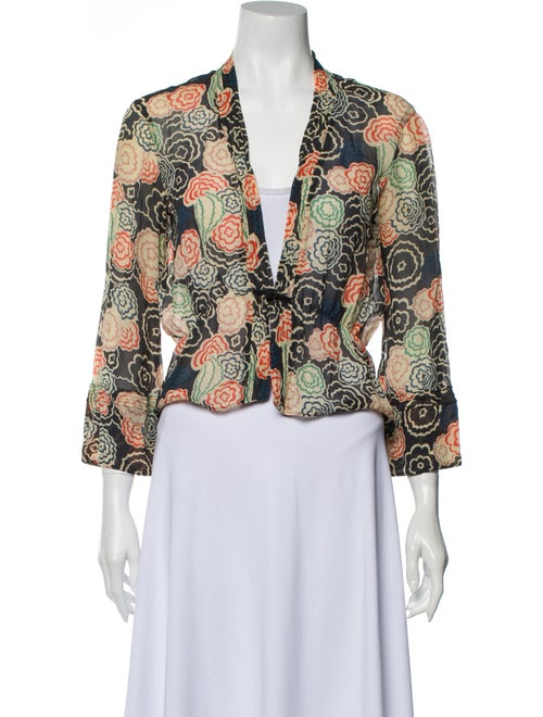 Marc Jacobs Silk Floral Print Blouse