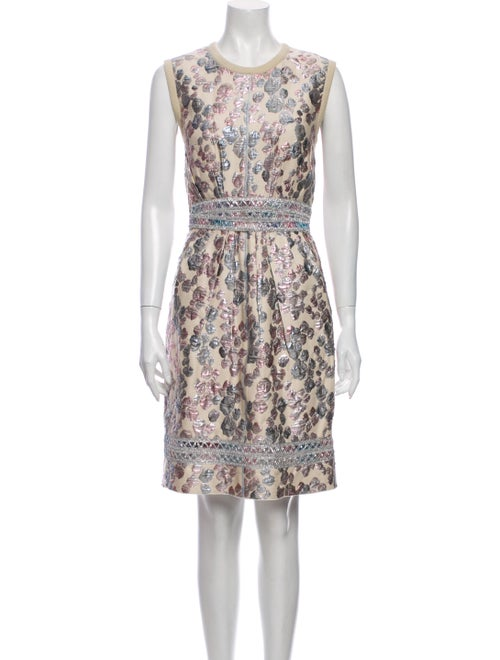 Marc Jacobs Printed Knee-Length Dress Metallic