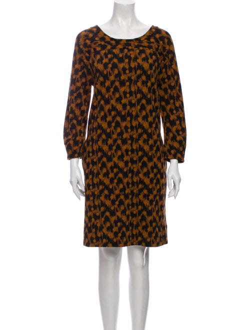 Marc Jacobs Printed Knee-Length Dress Orange