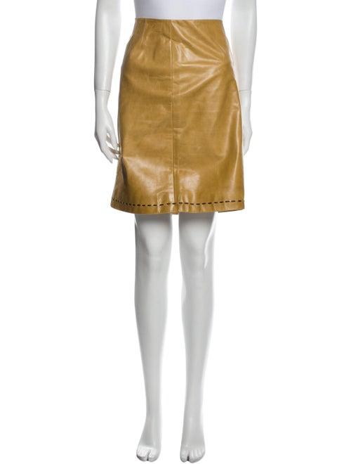 Marc Jacobs Leather Knee-Length Skirt