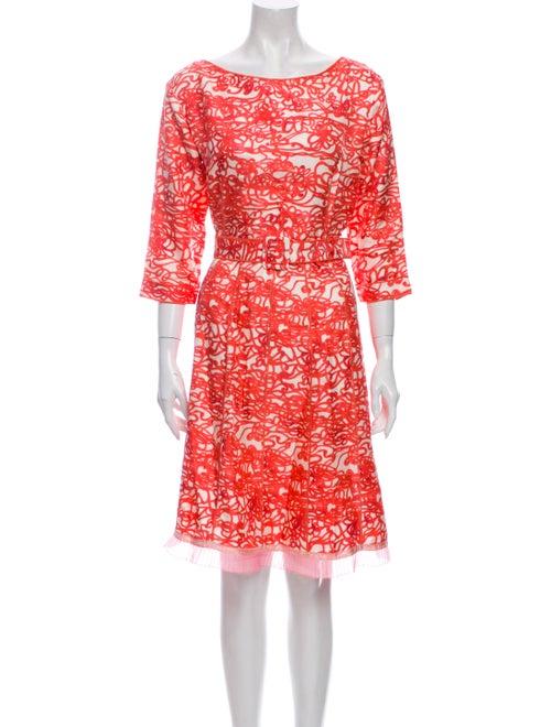 Marc Jacobs Silk Knee-Length Dress Red