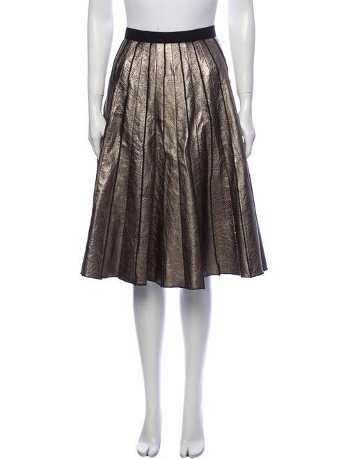 Marc Jacobs Knee-Length Skirt Gold
