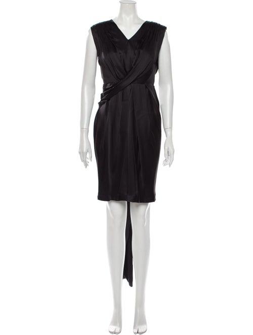 Marc Jacobs Silk Knee-Length Dress Black