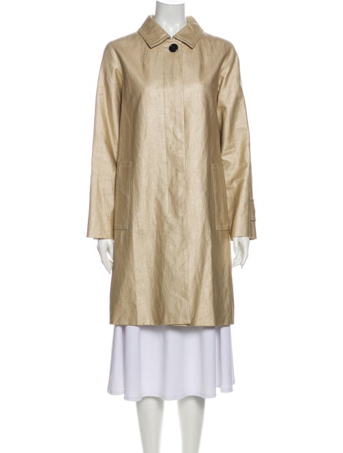 Marc Jacobs Linen Trench Coat Gold