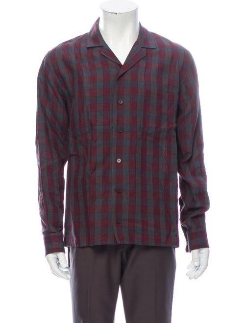 Marc Jacobs Linen Plaid Print Shirt
