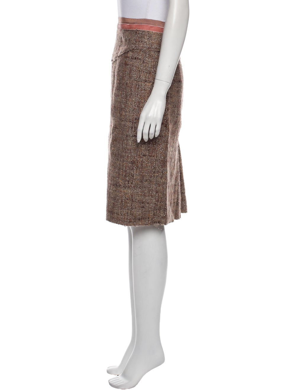 Marc Jacobs Knee-Length Skirt Metallic - image 2