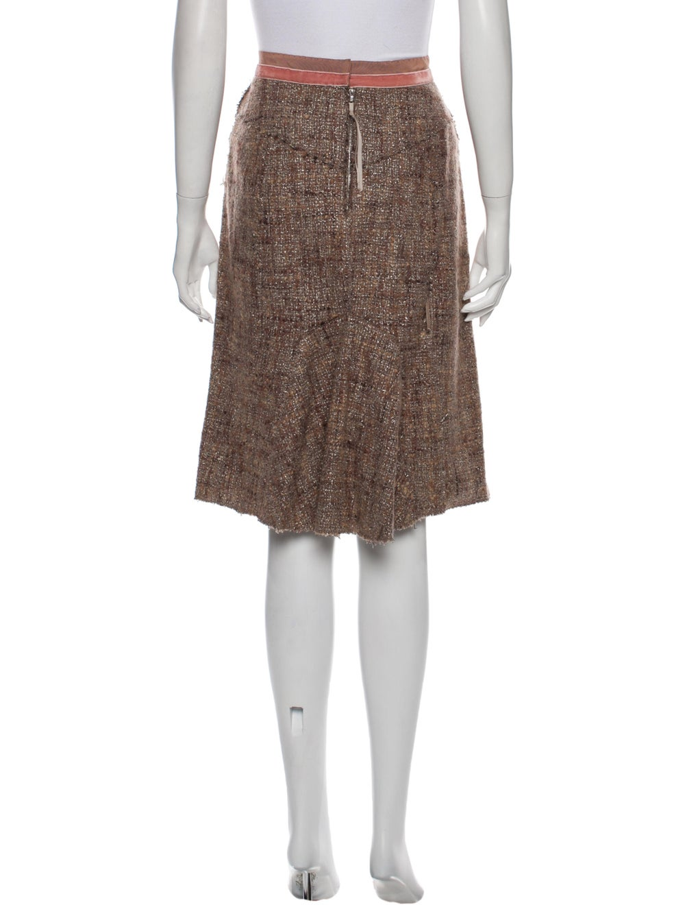 Marc Jacobs Knee-Length Skirt Metallic - image 3