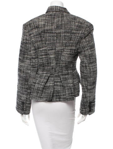 Marc Jacobs Tweed Notch Lapel Jacket Clothing Mar31271