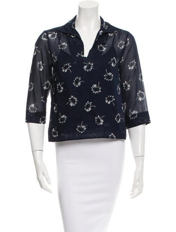 Marc Jacobs Printed Three-Quarter Sleeve Top None