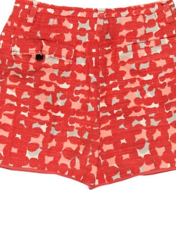 Pleated Printed Shorts
