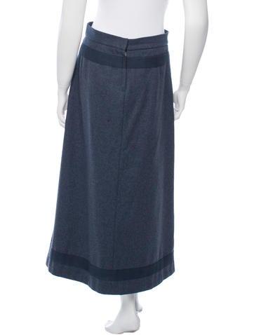 Embellished Wool Skirt
