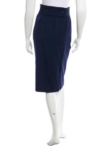 Wool Striped Skirt