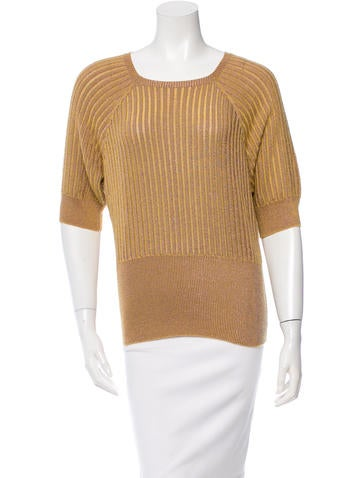 Marc Jacobs Metallic-Accented Sweater None