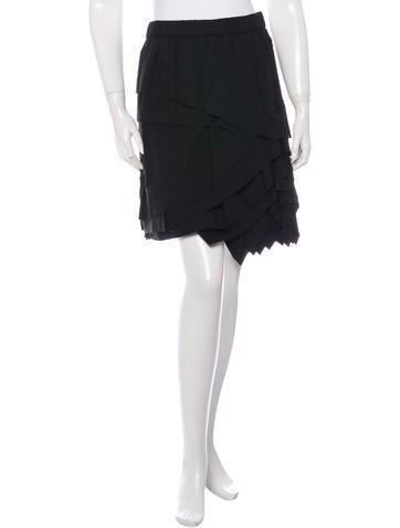 Marc Jacobs Knee-Length Ruffled Skirt