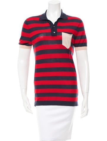 Marc Jacobs Striped Cashmere Top None