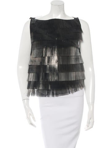 Marc Jacobs Sleeveless Fringed Top None