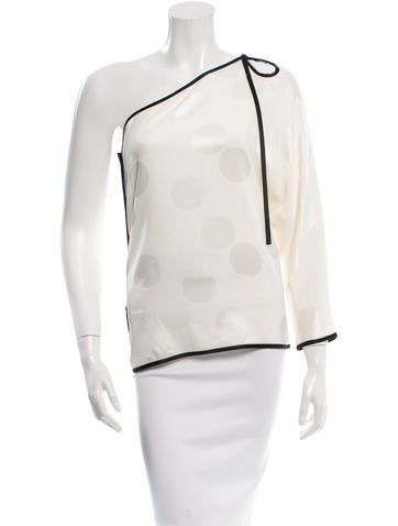 Marc Jacobs One-Shouldered Silk Top None