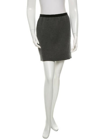 Marc Jacobs Cashmere & Silk-Blend Mini Skirt None