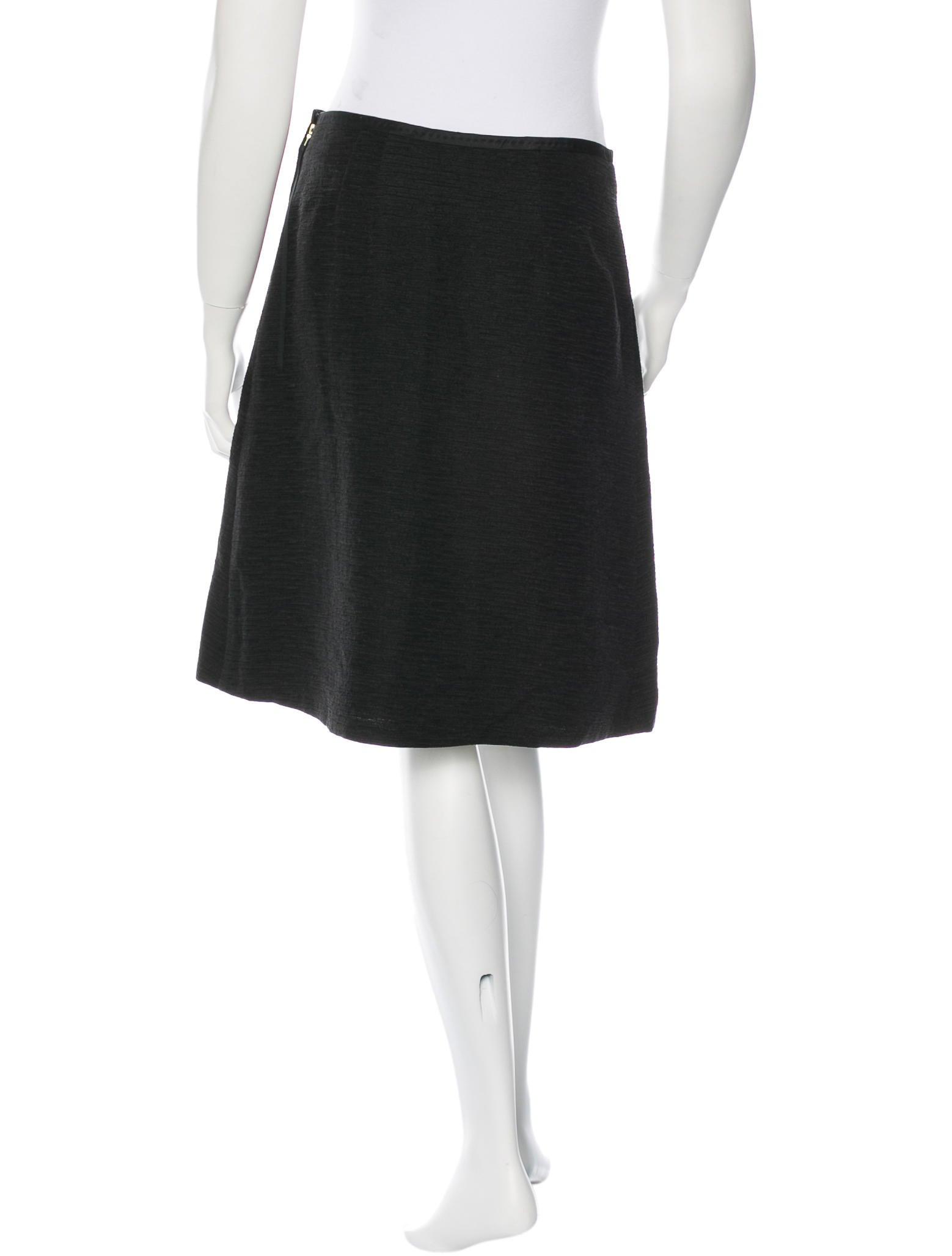 marc pleated knee length skirt clothing