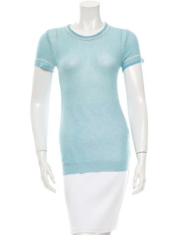 Marc Jacobs Cashmere-Blend Open Knit Top None