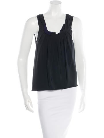 Marc Jacobs Pleated Sleeveless Top None