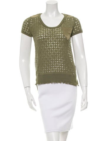 Marc Jacobs Wool Open Knit Top None