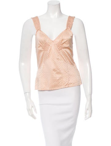 Marc Jacobs Silk Sleeveless Top None