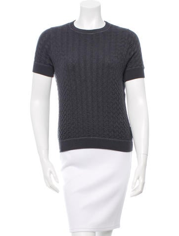 Marc Jacobs Textured Cashmere Top None