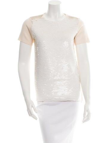Marc Jacobs Short Sleeve Sequined Sweatshirt None