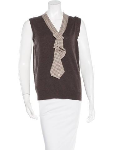 Marc Jacobs Wool & Cashmere-Blend Vest None