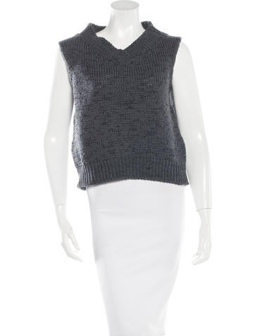 Marc Jacobs Open Knit Sleeveless Sweater None
