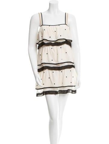 Marc Jacobs Silk Polka Dot Dress None