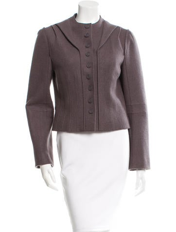 Marc Jacobs Wool Collarless Jacket None
