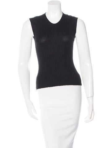 Marc Jacobs Cashmere Rib Knit Top None