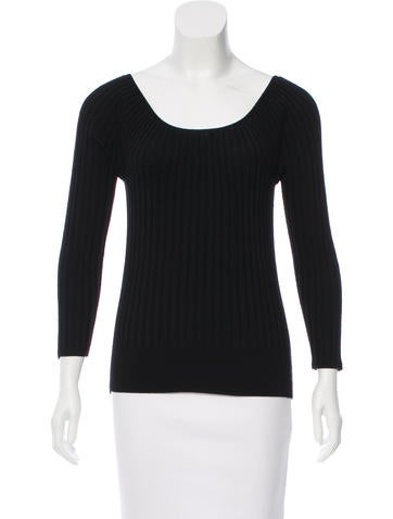 Marc Jacobs Wool Rib Knit Top None