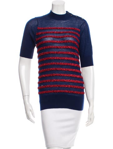 Marc Jacobs Cashmere Embellished Top None