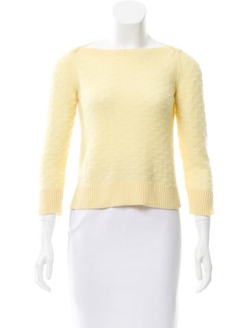 Marc Jacobs Long Sleeve Knit Sweater None