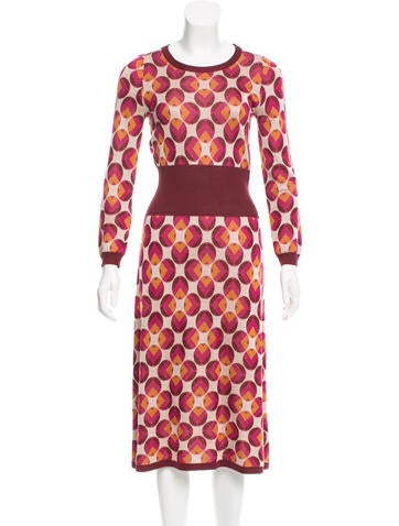 Marc Jacobs Patterned Silk Dress None
