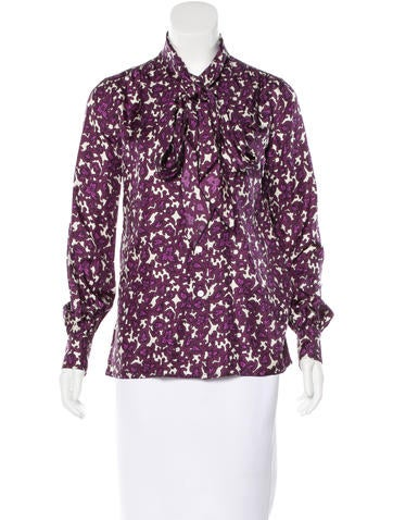 Marc Jacobs Silk Printed Top w/ Tags None