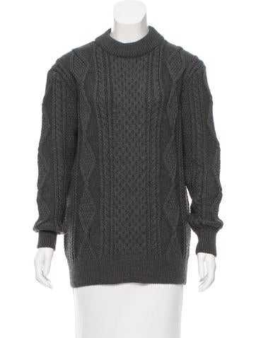 Marc Jacobs Wool Cable Knit Sweater None