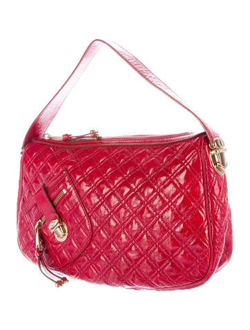 Quilted Leather Handle Bag