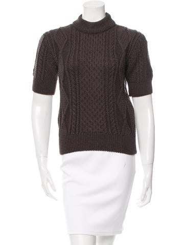 Marc Jacobs Cable Knit Wool Top None