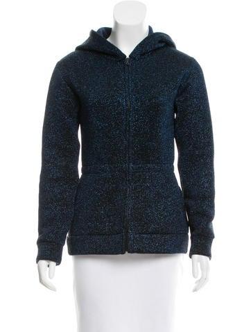 Marc Jacobs Metallic Hooded Jacket None