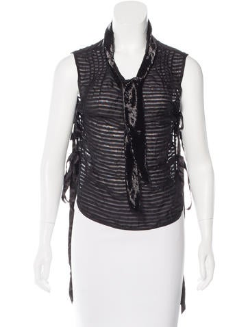 Marc Jacobs Embellished Patterned Top None