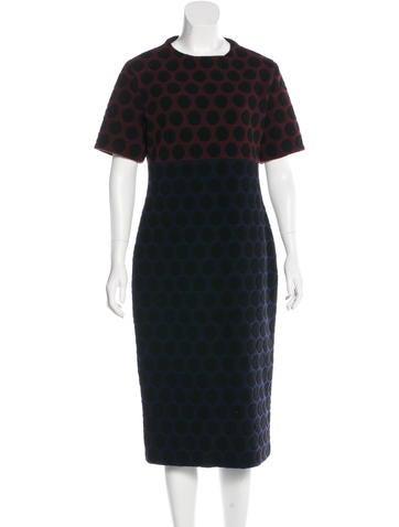 Marc Jacobs Wool Midi Dress None