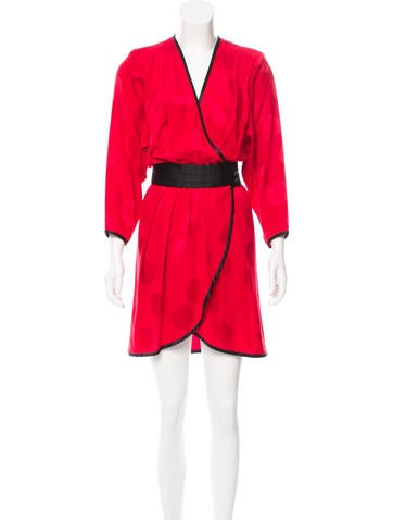 Marc Jacobs Silk Wrap Dress None