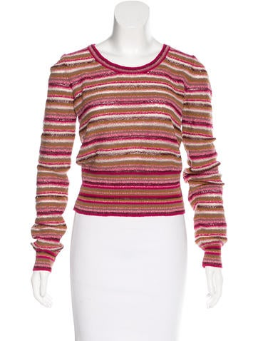 Marc Jacobs Striped Long Sleeve Sweater None