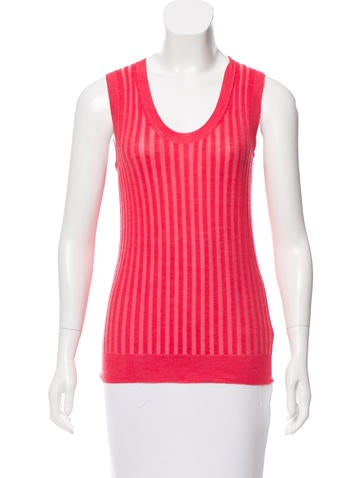 Marc Jacobs Sleeveless Cashmere Top None
